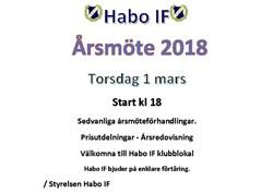 Årsmöte Habo IF