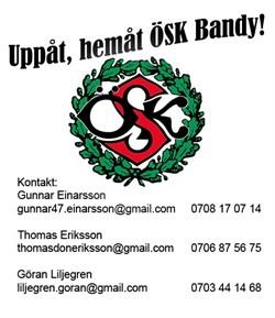 Uppåt, hemåt ÖSK Bandy!