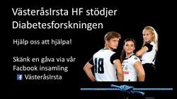 VästeråsIrsta HD stödjer Diabetesforskningen