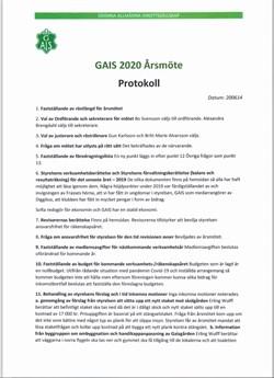Årsmötet 2020 del 1